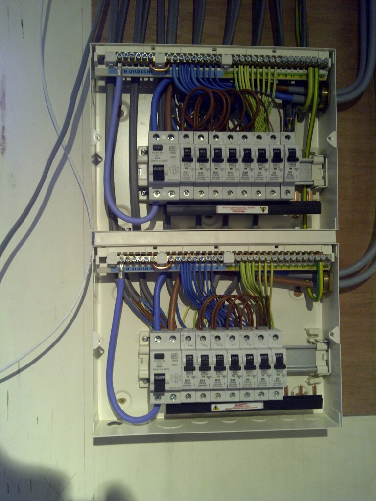 consumer unit electrical switch box, Linn electrical Contractors Ltd, Trowbridge, Wiltshire